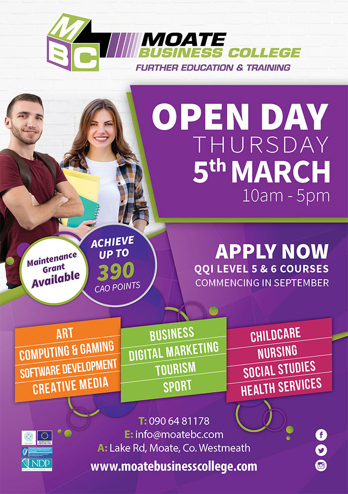Open Day Moate Business College