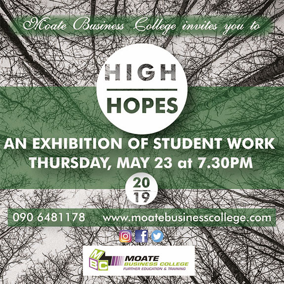 Moate Business College Art Exhibition