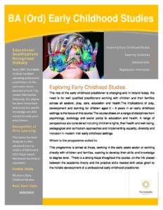 BA (Ord) – Early Childhood Studies – Blended Learning