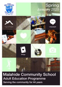 Malahide Community School Evening Course Brochure