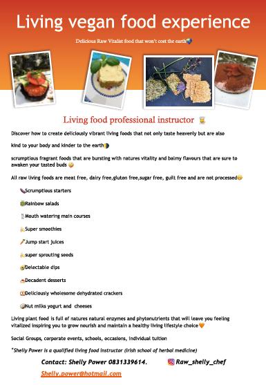 Malahide Community School – Adult Education - Living Vegan Food Experience- Thursday - 1